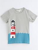 preiswerte Krawatten & Fliegen-Unisex T-Shirt Einfarbig Geometrisch Baumwolle Sommer Kurzarm Grau