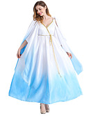 cheap Men's Shirts-Fairytale Goddess Cosplay Cosplay Costume Party Costume Men's Women's Halloween Carnival Festival / Holiday Halloween Costumes White+Blue