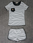 cheap Women's Two Piece Sets-Women's T-shirt - Patchwork Pant