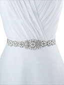 cheap Mother of the Bride Dresses-Taffeta Wedding / Special Occasion / Anniversary Sash With Rhinestone / Beading / Sequin Women's Sashes