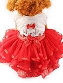 halpa Naisten kaksiosaiset asut-Kissa Koira Smokki Hameet Koiran vaatteet Rusetti Keltainen Punainen Vihreä Sifonki Puuvilla Asu Lemmikit Naisten Juhla Rento/arki Häät