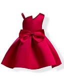 tanie Sukienki dla dziewczynek-Dzieci Dla dziewczynek Kokarda Jendolity kolor Bez rękawów Sukienka / Bawełna
