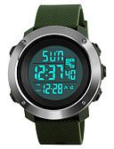 cheap Quartz Watches-SKMEI Men's Sport Watch / Military Watch / Wrist Watch Japanese Alarm / Calendar / date / day / Chronograph PU Band Fashion Black / Green / Grey / Stainless Steel / Water Resistant / Water Proof