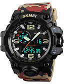 cheap Sport Watches-SKMEI Men's Sport Watch / Military Watch / Wrist Watch Japanese Alarm / Calendar / date / day / Chronograph PU Band Fashion / Water Resistant / Water Proof / Dual Time Zones / Stopwatch / Noctilucent