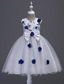 preiswerte Kleider für die Hochzeitsfeier-Kinder / Baby Mädchen Blumig Blumen Ärmellos Kleid / Baumwolle