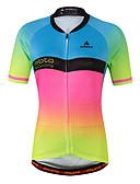 abordables Camisas y Camisetas para Mujer-Miloto Mujer Manga Corta Maillot de Ciclismo - Luminoso Bicicleta Camiseta / Maillot Licra, Coolmax®