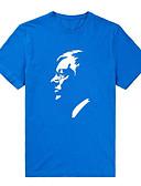 cheap Men's Tees & Tank Tops-Men's Cotton T-shirt - Portrait Print Jacquard Round Neck
