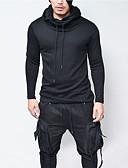 abordables Sous-vêtements & Chaussettes pour Homme-Homme Décontracté / Basique / Punk & Gothique Mince Pantalon - Couleur Pleine Noir / Capuche / Manches Longues / Hiver