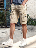 cheap Men's Pants & Shorts-Men's Plus Size Cotton Loose Shorts Relaxed Pants - Solid Colored Oversized