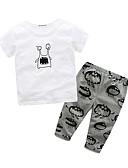 preiswerte Kleidersets für Babys-Baby Kinder Kleidungs Set Baumwolle Lässig/Alltäglich Ausgehen Festtage Tierfell-Druck Cartoon Design 100% Baumwolle Frühling Sommer