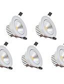olcso Esküvői ajándékok-3 W 1 LED gyöngyök Tompítható LED mélysugárzók Meleg fehér Hideg fehér 110-220 V Gyerekszoba Nappali / ebédlő Hálószoba / 5 db.
