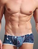 baratos Roupas Íntimas e Meias Masculinas-Homens Super Sexy Boxer Curto - Estampado, Floral 1 Peça