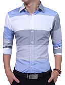 cheap Men's Shirts-Men's Cotton Shirt - Striped Color Block