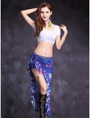 baratos Vestidos de Mulher-Dança do Ventre Roupa Mulheres Espetáculo Modal Estampa Fenda Frontal Manga Curta Natural Saias Blusa