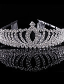 voordelige Damesleggings-Kristal Strass Legering tiaras Hoofddeksels with Bloemen 1pc Bruiloft Speciale gelegenheden Feest / Uitgaan Helm