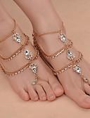 povoljno Odjeća za trbušni ples-Sandale od nakita - Ispustiti Moda Zlato / Pink Za Dnevno Outdoor ruházat Izlasci Žene / Umjetno drago kamenje