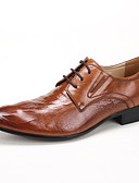baratos Cintos de Moda-Homens Sapatos formais Couro / Pele Primavera / Outono Sapatos formais Sapatos De Casamento Preto / Marron / Vinho / Festas & Noite / Sapatos de vestir