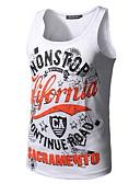 저렴한 남성 티셔츠&탱크 탑-남성용 문자 라운드 넥 탱크 탑