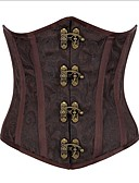 cheap Historical & Vintage Costumes-Women's Lace Up Plus Size Overbust Corset-Jacquard
