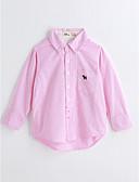 cheap Boys' Clothing-Boys' Solid Shirt, Cotton Spring Fall Long Sleeves Blushing Pink