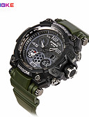 cheap Fashion Watches-Men's Sport Watch Military Watch Smartwatch Quartz Digital 30 m Water Resistant / Water Proof Alarm Calendar / date / day Silicone Band Analog-Digital Charm Vintage Casual Multi-Colored - Black Green
