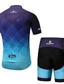 billige Sykkeljerseys-Miloto Herre Kortermet Sykkeljersey med shorts - Blå Sykkel Fôrede shorts / Klessett Spandex Gradient / Elastisk