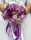 """זול הינומות חתונה-פרחי חתונה זרים חתונה פּוֹלִיאֶסטֶר 9.84""""(לערך.25ס""""מ)"""