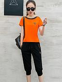 halpa Naisten kaksiosaiset asut-Naisten T-paita - Yhtenäinen, Painettu Housut