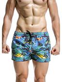 זול בגדי ים לגברים-מכנסי גלישה דפוס - חלקים תחתונים ספורטיבי בגדי ריקוד גברים