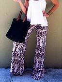 tanie Damskie spodnie-Damskie Luźna Luźna / Typu Chino Spodnie - Geometric Shape Nadruk Biały / Wyjściowe