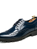 cheap Wedding Veils-Men's Shoes Leather Spring / Fall Comfort / Formal Shoes Oxfords White / Black / Blue / Wedding / Party & Evening / Dress Shoes
