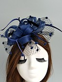 cheap Print Dresses-Flax / Net Fascinators / Hats / Birdcage Veils with 1 Wedding / Special Occasion Headpiece