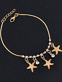 cheap Watch Accessories-Anklet - Friends, Star Vintage, Punk, Gothic Gold For Wedding Party New Baby Women's Girls' / Daily / Casual