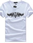 זול חולצות לגברים-אחיד צווארון עגול רזה פעיל טישרט - בגדי ריקוד גברים / שרוולים קצרים