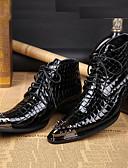 olcso Férfi dzsekik és parkák-Férfi Formális cipők Nappa Leather Ősz / Tél Vintage Csizmák Bokacsizmák Fekete / Party és Estélyi