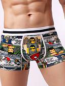 billige Herreundertøj og -sokker-Herre Super Sexy Boxer Shorts - Trykt mønster, Geometrisk 1 Stykke