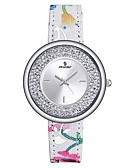 ieftine Quartz-Pentru femei femei Ceas Sport Ceasuri din Cristal Japoneză Quartz 30 m Rezistent la Apă Piele Autentică Bandă Analog Casual Modă Multicolor - Verde Albastru Roz auriu