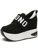 abordables Guantes de mujer-Mujer Zapatos Tejido Primavera / Otoño Confort Zapatillas de deporte Tacón Plano Negro / Gris / Rojo