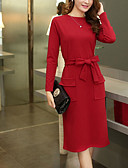 cheap Women's Dresses-Women's Plus Size Daily / Going out Casual / Street chic Sheath Dress - Solid Colored High Rise