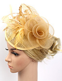 cheap Fashion Headpieces-Feather / Net Fascinators / Flowers / Headwear with Floral 1pc Wedding / Special Occasion / Party / Evening Headpiece