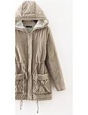 preiswerte Damen Schlafanzüge-Damen Baumwolle Freizeit Lang Gefüttert - Reine Farbe, Solide / Winter