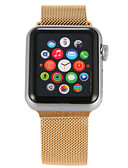 billige Hodeplagg til fest-Klokkerem til Apple Watch Series 4/3/2/1 Apple Milanesisk rem Rustfritt stål Håndleddsrem