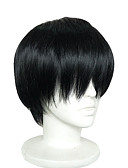 cheap Men's Swimwear-Synthetic Wig / Cosplay & Costume Wigs Straight Synthetic Hair Black Wig Short Capless