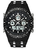 cheap Steel Band Watches-Men's Sport Watch Military Watch Wrist Watch Japanese Digital 30 m Water Resistant / Water Proof Alarm Calendar / date / day Stainless Steel Rubber Band Analog-Digital Charm Luxury Vintage Black -