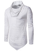 cheap Men's Tees & Tank Tops-Men's Punk & Gothic Cotton Slim T-shirt - Solid Colored Turtleneck