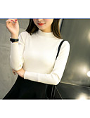 cheap Women's Sweaters-Women's Work Long Sleeves Pullover - Solid Stand