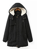 cheap Women's Downs & Parkas-Women's Basic Padded - Solid Colored Hooded