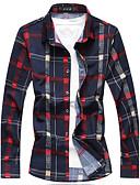 ieftine Maieu & Tricouri Bărbați-Bărbați Mărime Plus Size Cămașă Zilnic / Ieșire / Muncă Bumbac / Acrilic Șic Stradă - Plisat / Manșon Lung