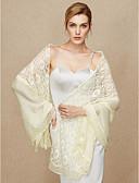 hesapli Gece Elbiseleri-Pamuklu / Dantelalar Düğün / Parti / Gece Kadın Eşarpları İle Dantel Atkılar