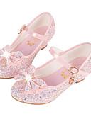 hesapli Kız Çocuk Üstleri-Genç Kız Sentetik Mikrofiber PU Düz Ayakkabılar Küçük Çocuklar (4-7ys) / Büyük Çocuklar (7 yaş +) Rahat / Yenilikçi / Çiçekçi Kız Ayakkabıları Payet / Toka Beyaz / Mavi / Pembe Sonbahar / Kış